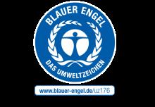 Blauer Engel Logo mit Link Corelan